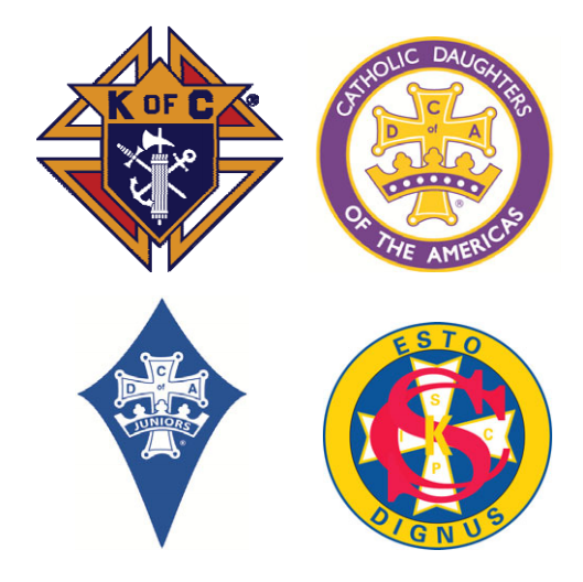 Knights and Catholic Daughters logos.