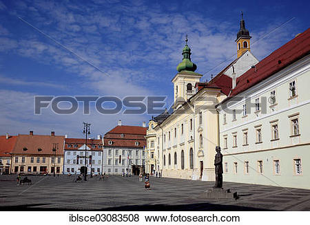 "Pictures of ""Piata Mare or Great Square with the Catholic Garrison."