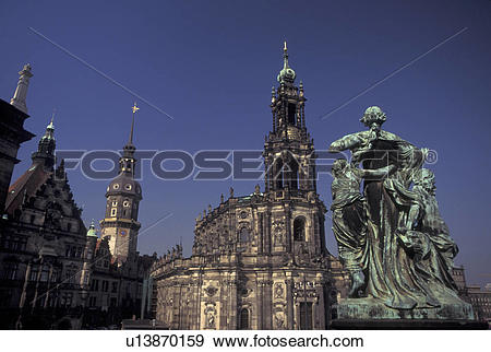 Stock Photograph of church, Dresden, Germany, Sachen, Saxony.