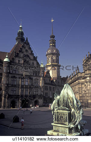 Stock Photo of church, Dresden, Germany, Sachen, Saxony, Europe.