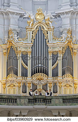 "Stock Photograph of ""Church organ by Gottfried Silbermann in the."