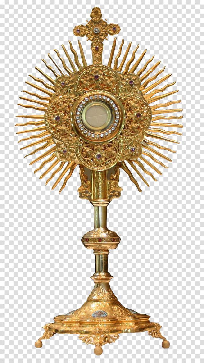 Monstrance Blessed Sacrament Eucharistic adoration Holy card.