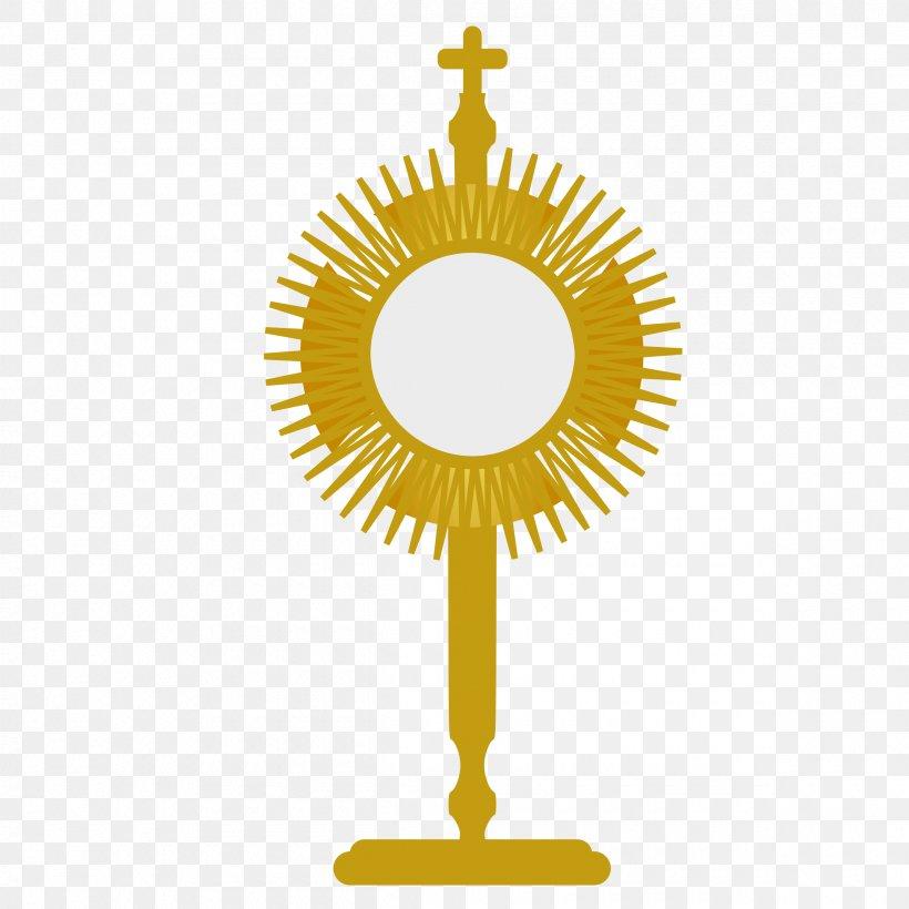 Monstrance Eucharist First Communion Clip Art, PNG.