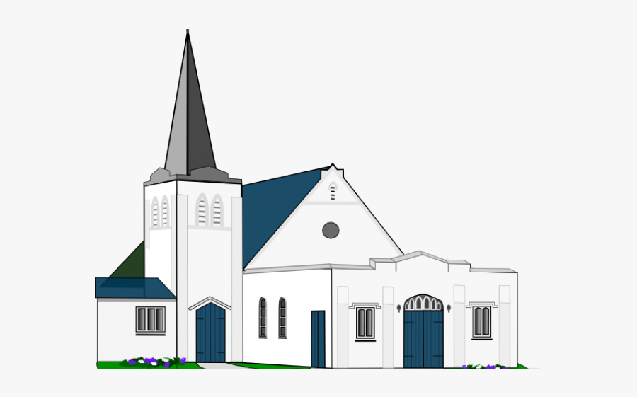 Catholic Drawing Church Building.