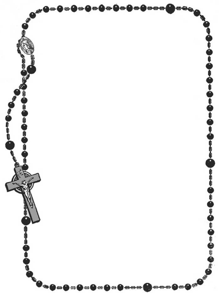 Rosary Borders Clip Art Frame Coloring Pages Clipart.