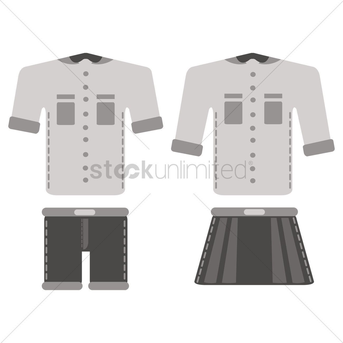 School Uniforms Clipart Black And White.