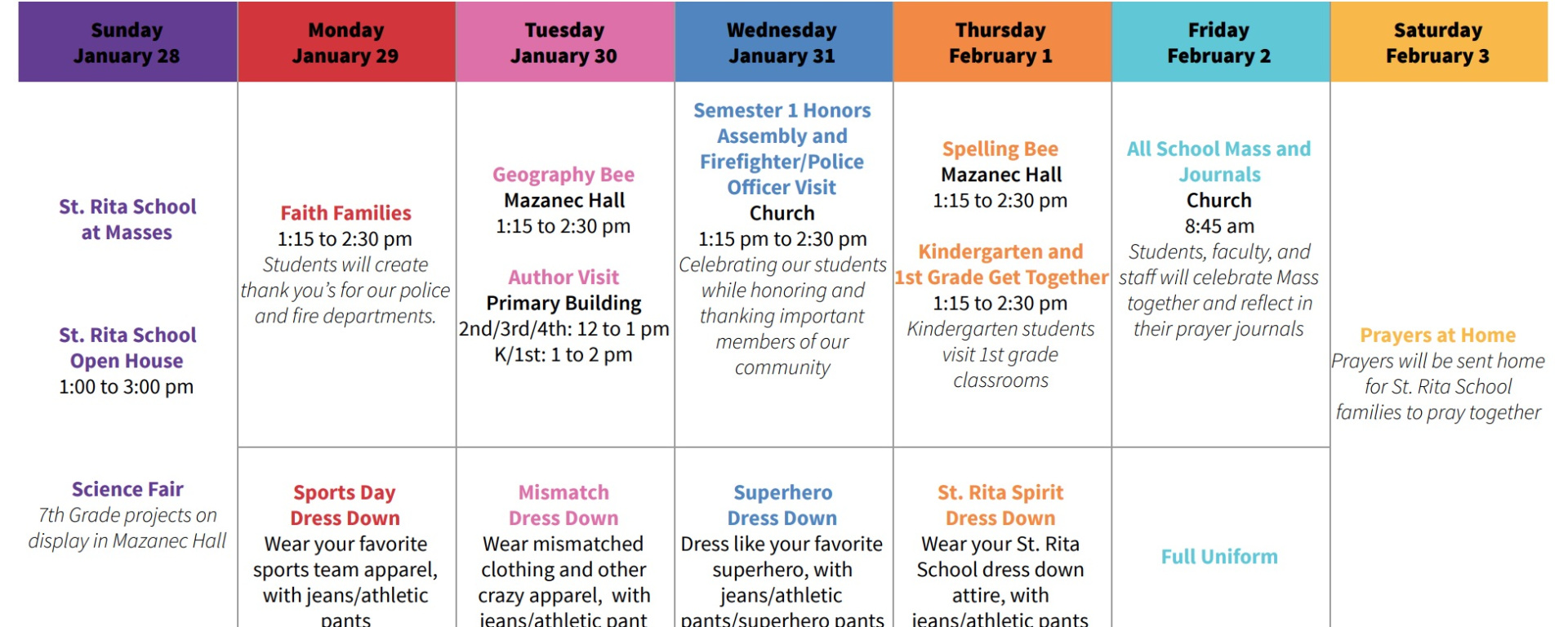 Catholic Schools Week 2018.