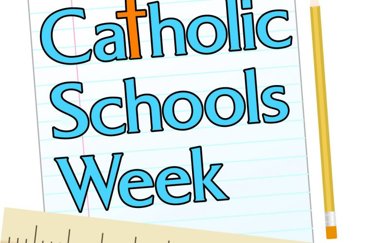 Displays: Catholic Schools Week.