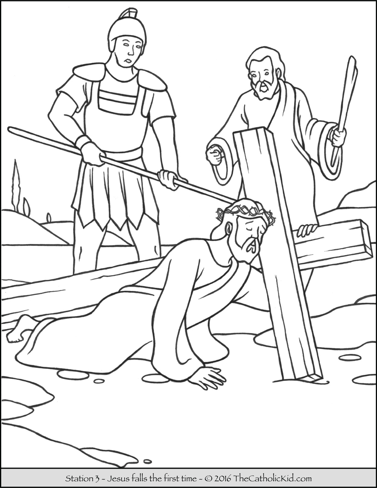 Stations of the Cross Coloring Pages.