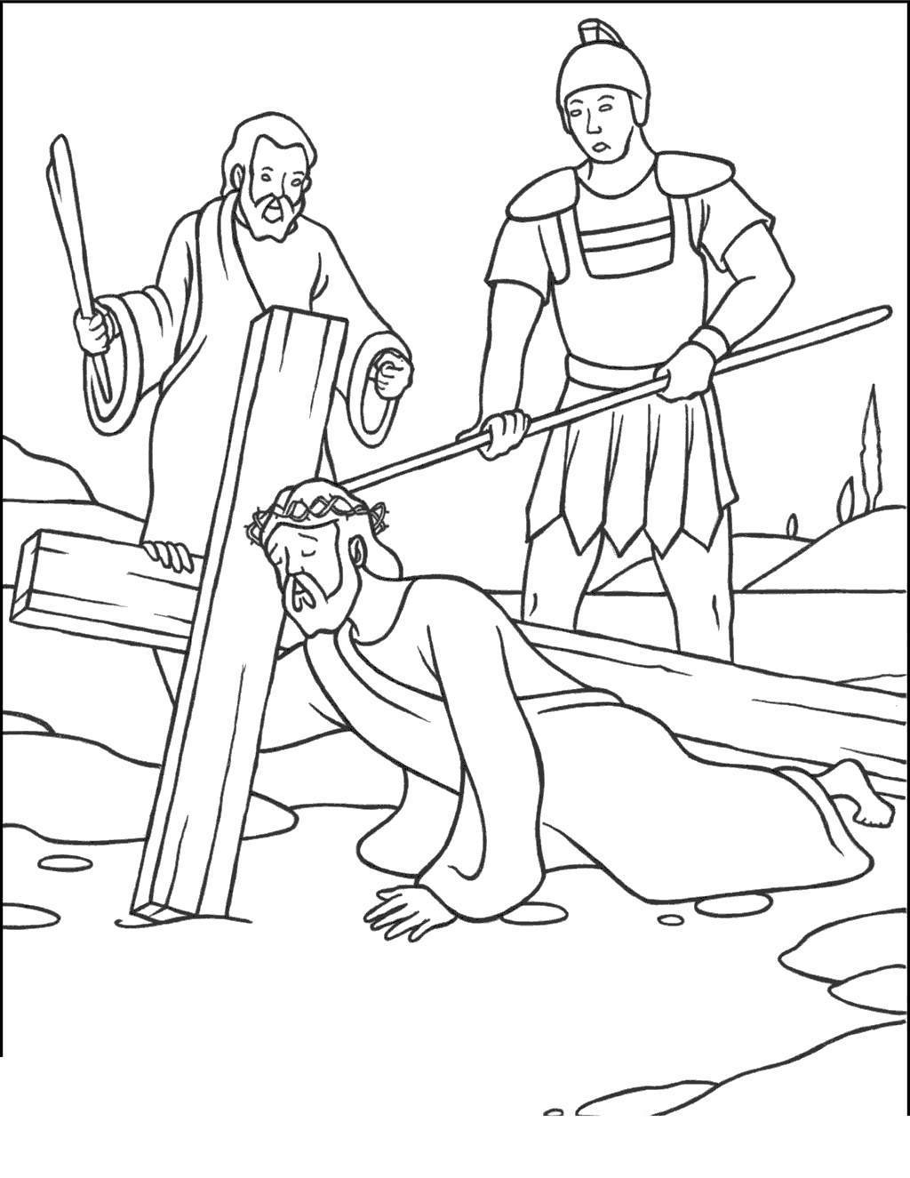 Jesus On The Cross Clipart Stations Catholic Black and White.