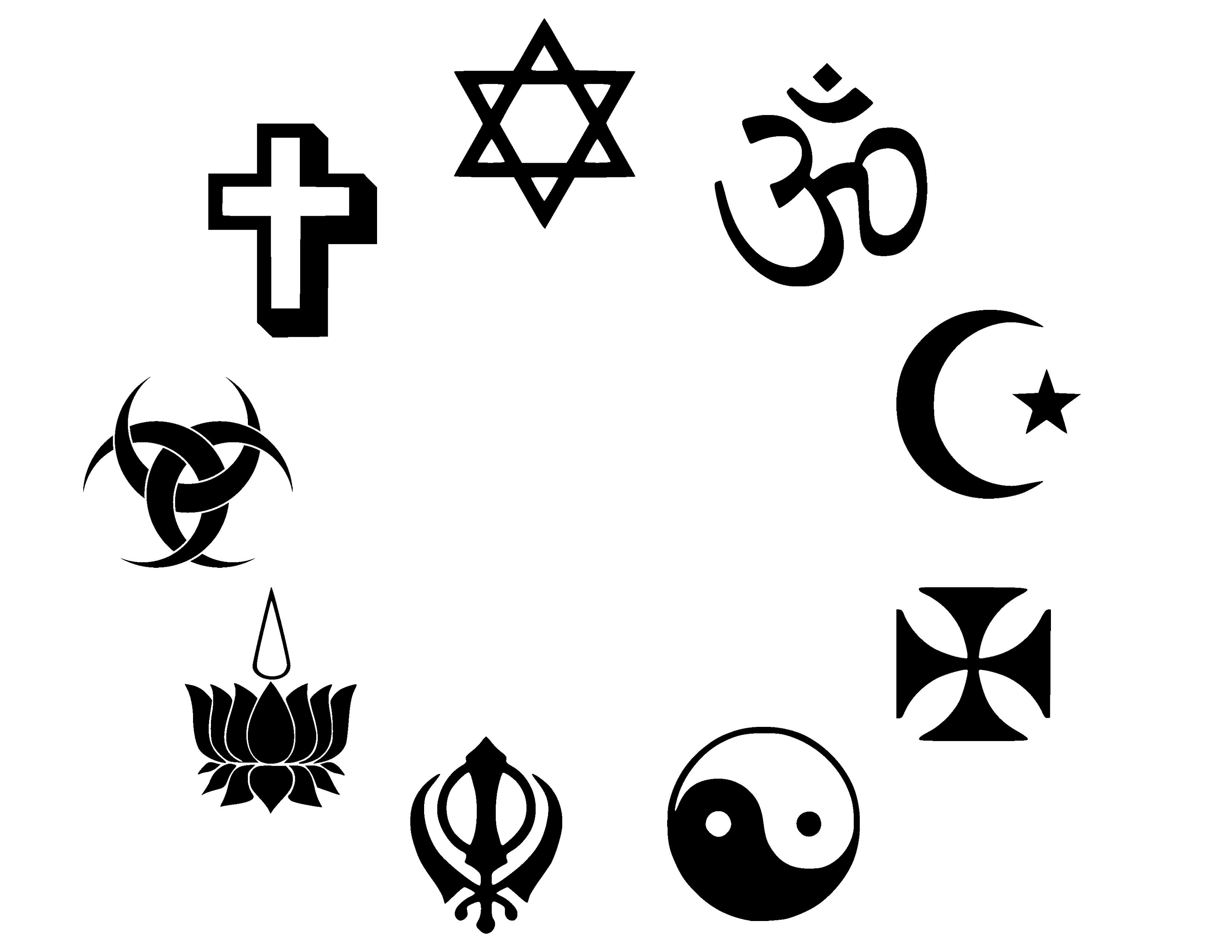 Religious Symbols Clipart.