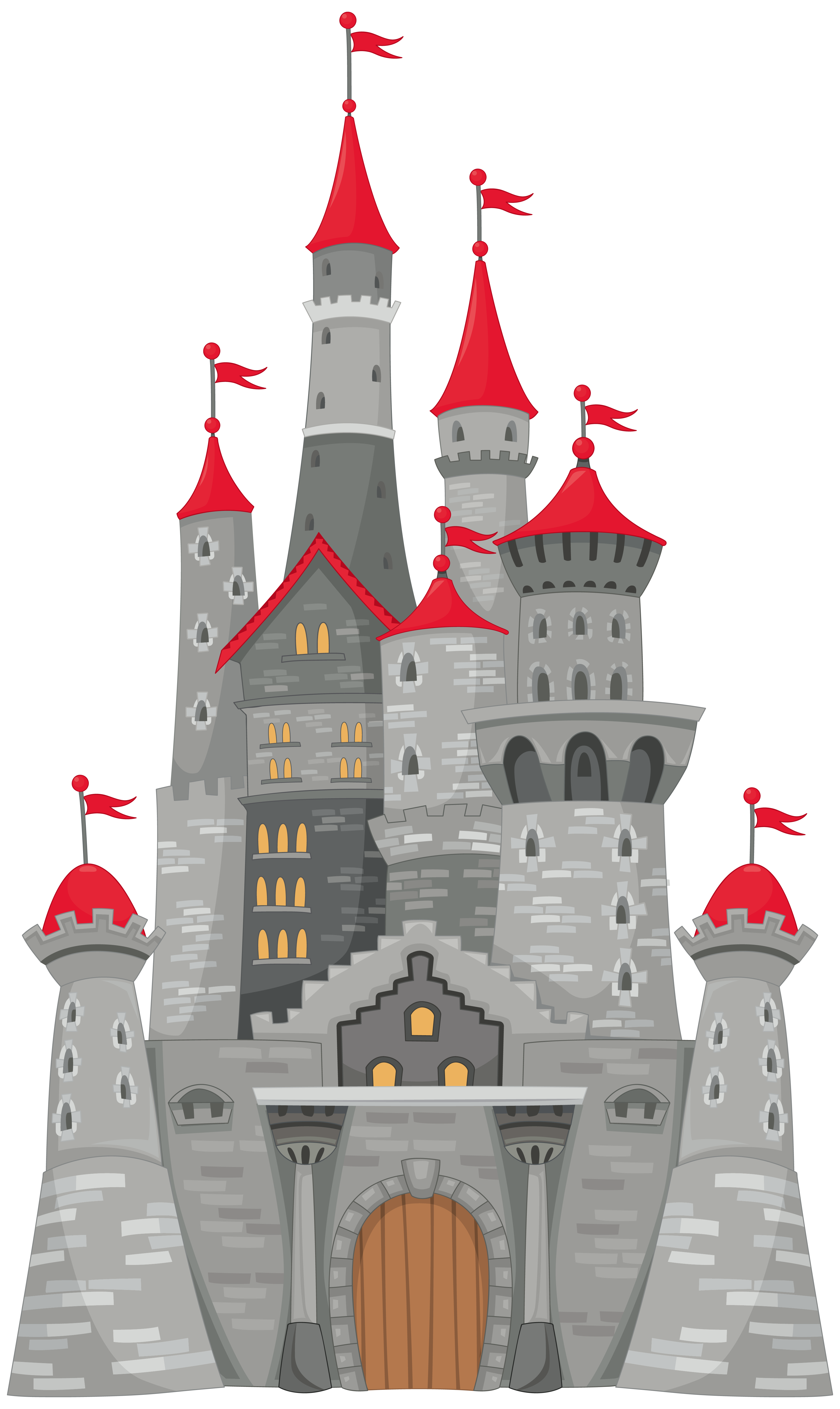 Castle clipart high resolution pencil and in color castle.