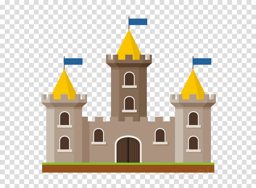 landmark property yellow architecture castle clipart.
