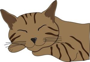 Free Sleeping Cat Clipart Image 0515.