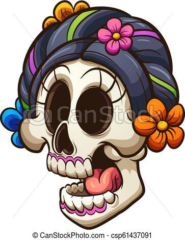 Catrina skull.