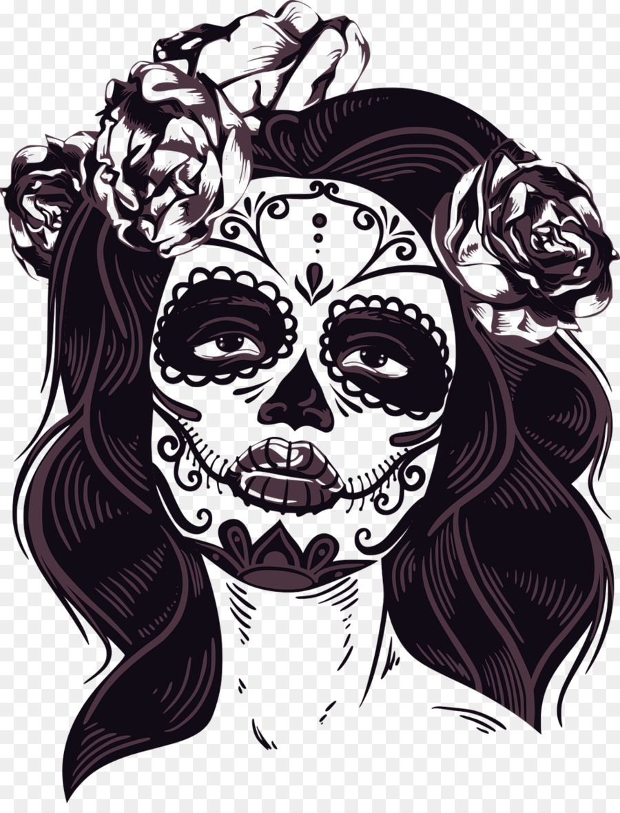 Day Of The Dead Skull png download.