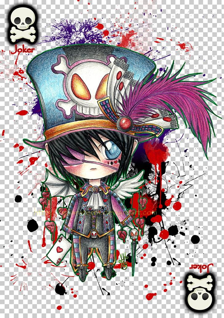 Joker Chibi Mangaka Anime, joker PNG clipart.
