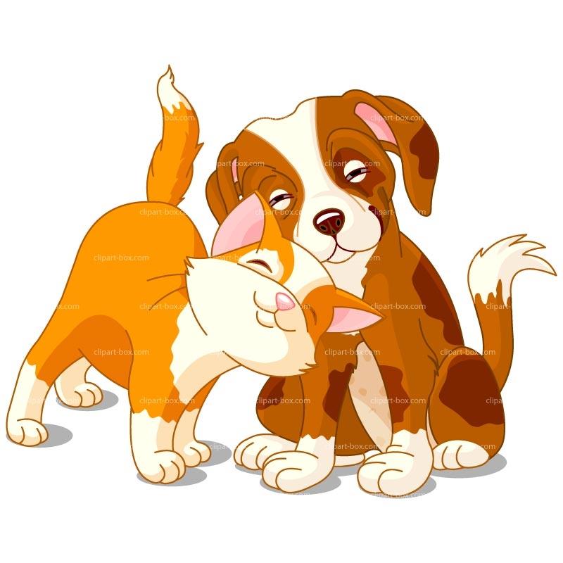 Cartoon Cat And Dog Clipart.