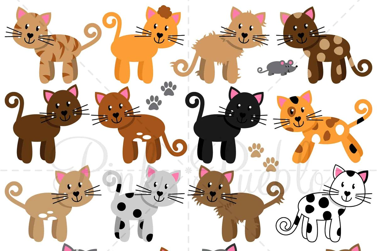 Cats Vectors and Clipart.