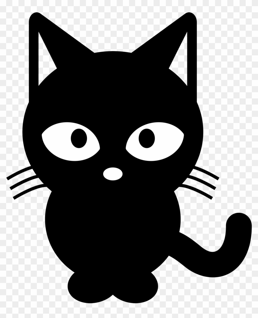 Black Cat Clipart Black And White, HD Png Download (#4502033), Free.