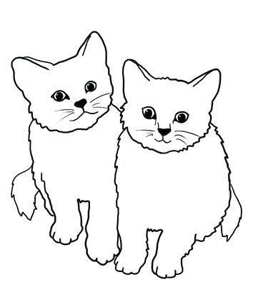 Cats clipart black and white 4 » Clipart Station.