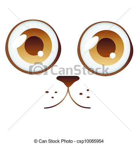 Clipart Vector of cat eyes.