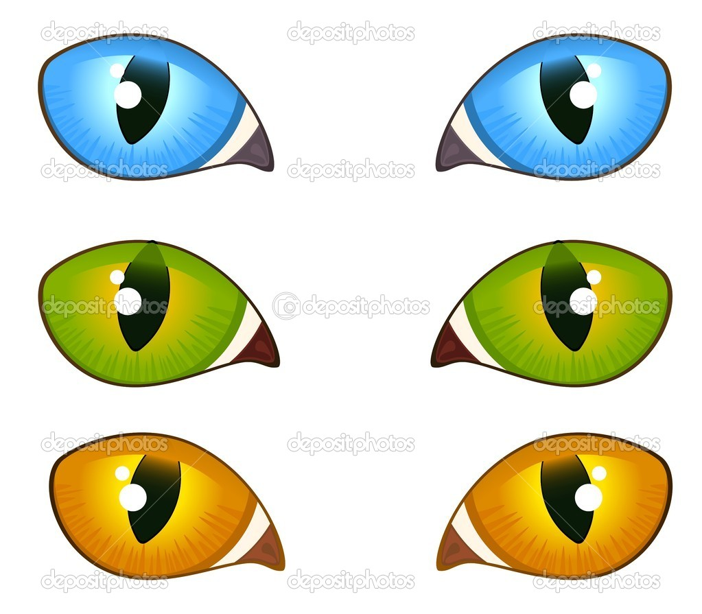 Image of cat eyes — Stock Vector © Forewer #7369638.