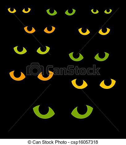 Vector Clip Art of Cat eyes.