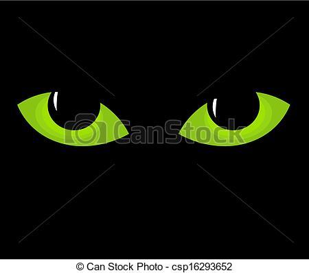 Clip Art Vector of Cat eyes.