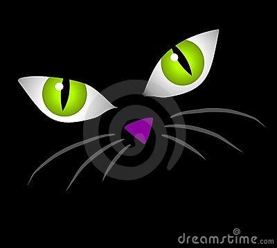 momhes: black cat eyes.
