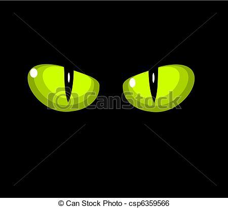 Cat green eyes Clipart Vector Graphics. 801 Cat green eyes EPS.