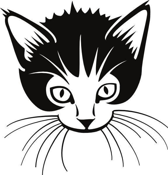 Cat Face Clip Art Large Cats Pinterest #JNIN8m.