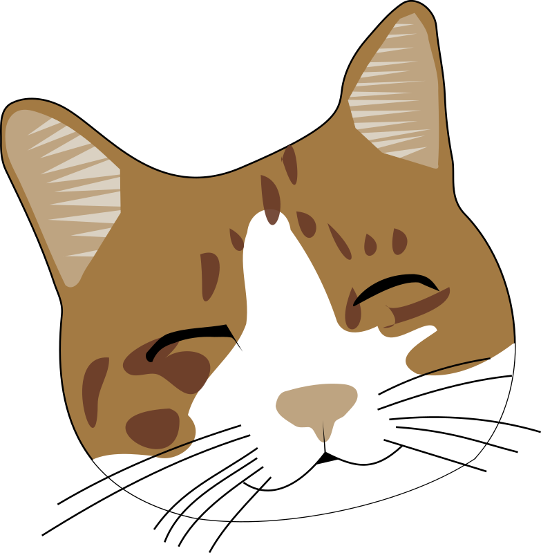 Cat Face Clip Art.