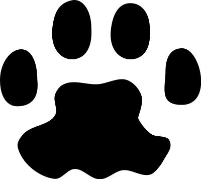 Cat paw free paw prints clipart 3.