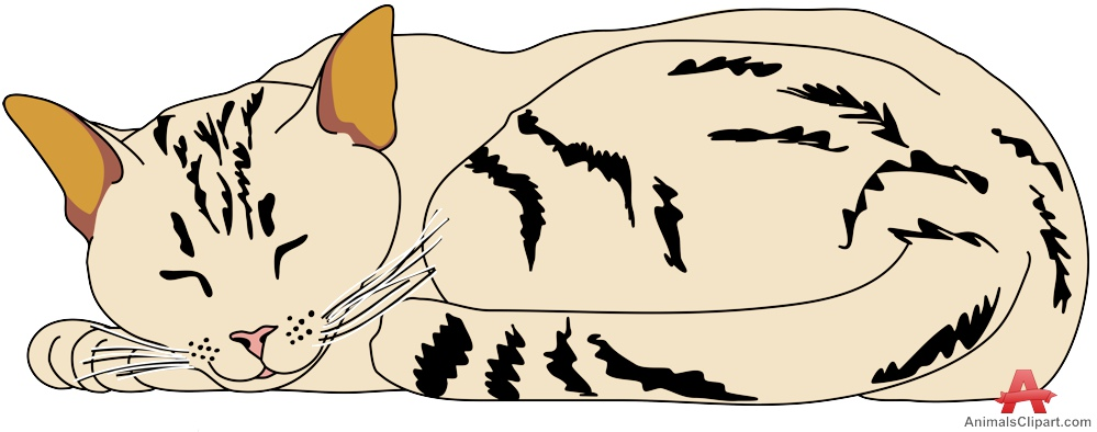 Cat Sleeping Clipart.