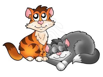 Clip Art Cute Cats Clipart.