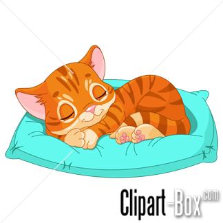 Cats Sleeping Clipart.
