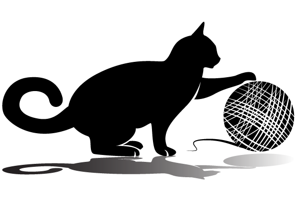 Cat playing clipart.