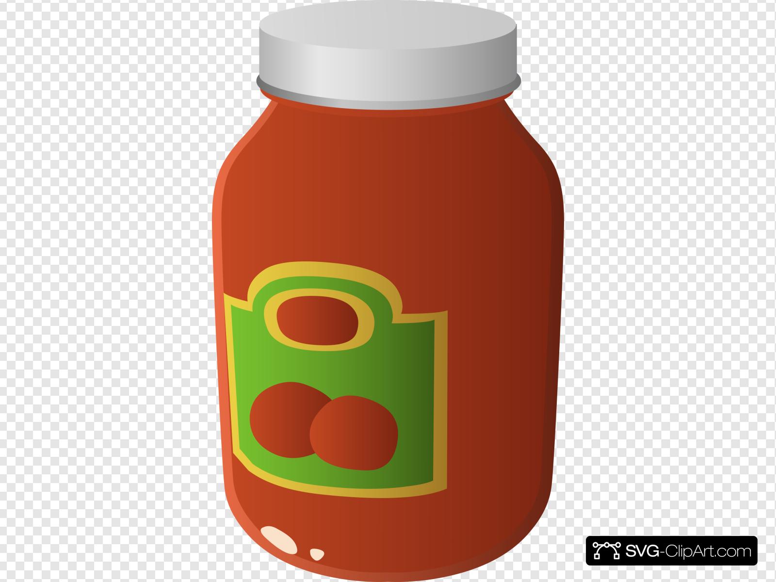 Creamy Catsup Clip art, Icon and SVG.