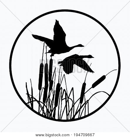 Cattail Silhouette Images, Illustrations & Vectors (Free).