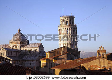 """Stock Photograph of """"Campanile, Leaning Tower of Pisa and Duomo di."""