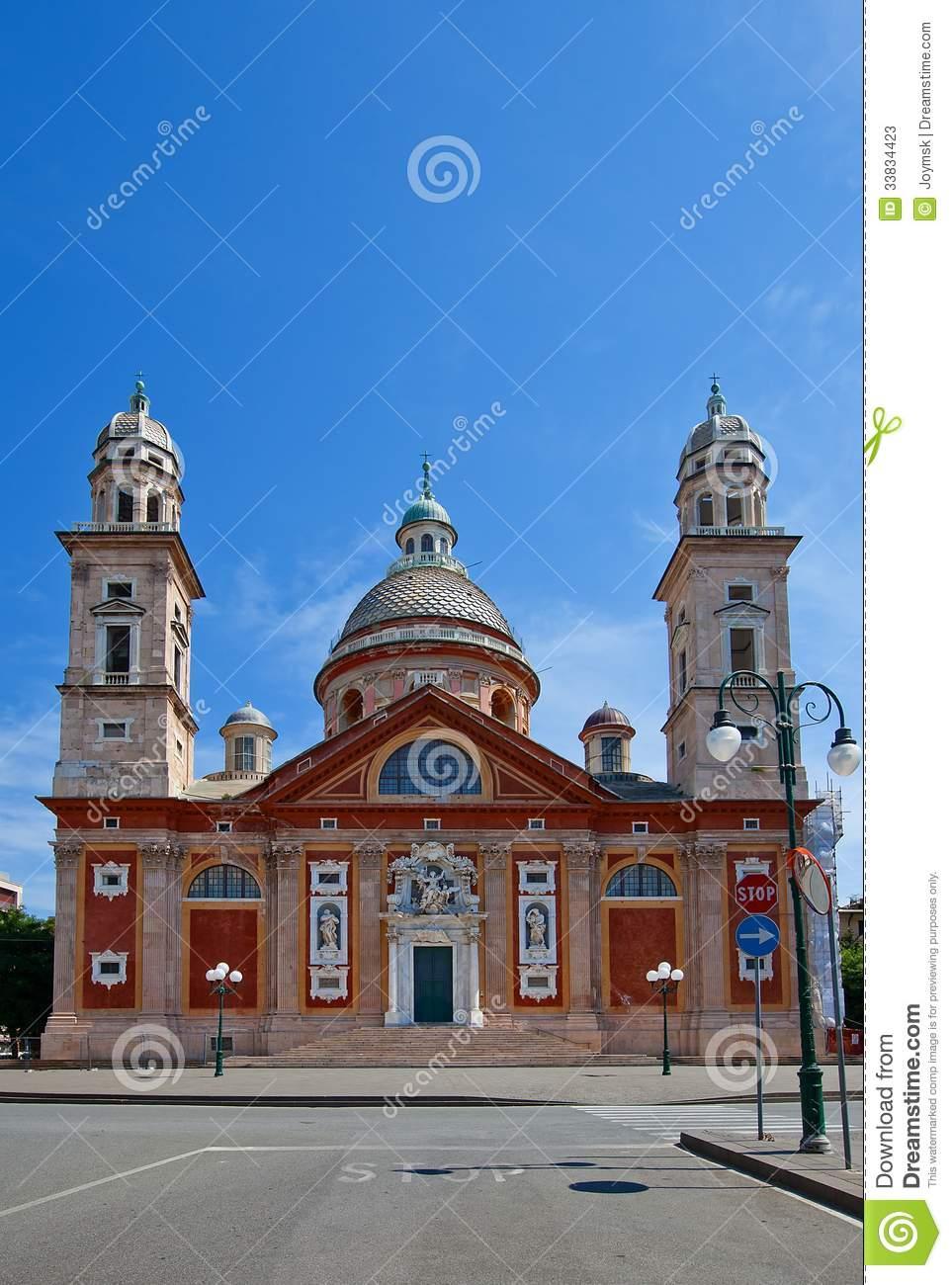 Church Of Santa Maria Assunta (XVI C.). Carignano, Genoa, Italy.