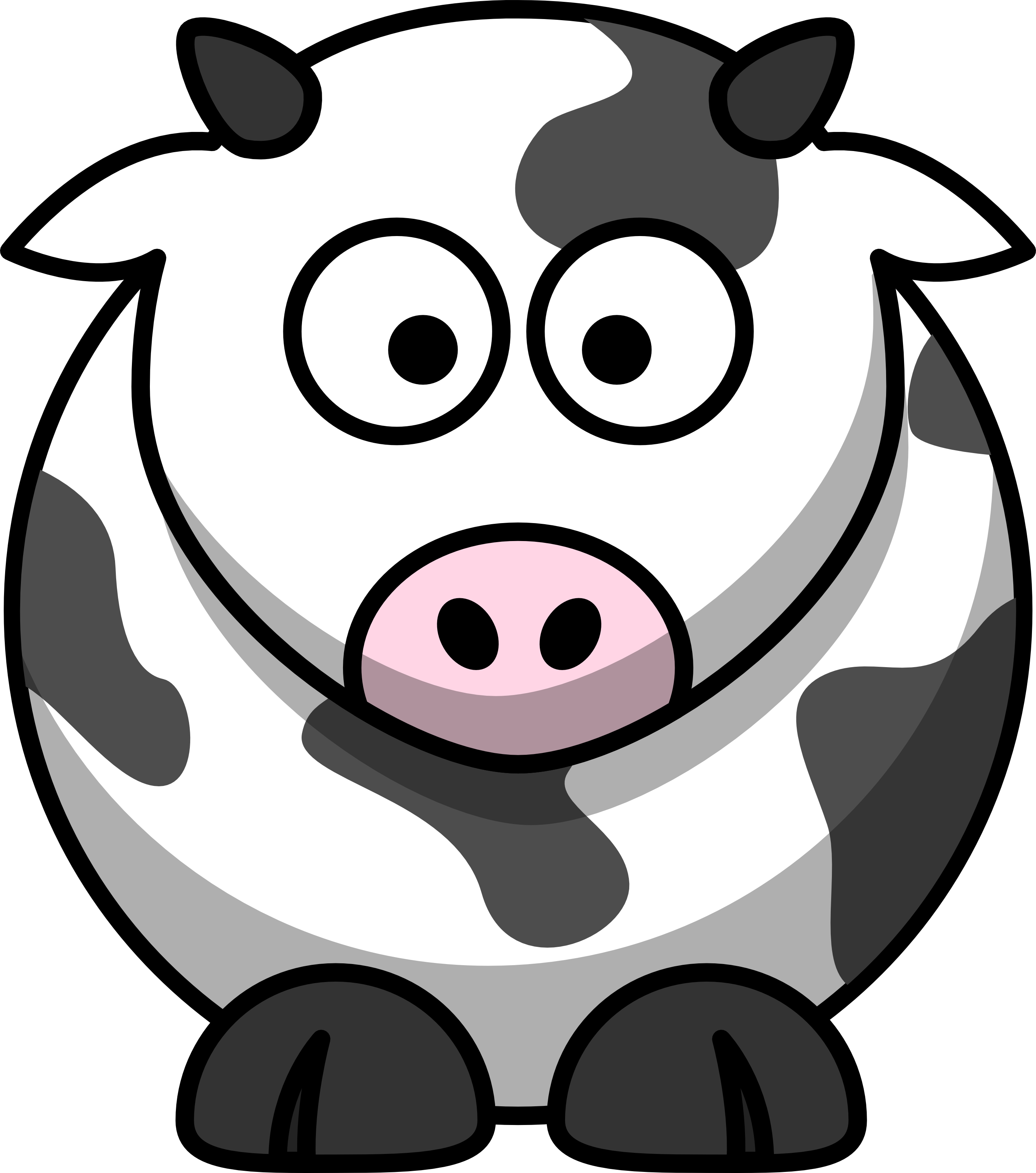 Free Cartoon Cow Clip Art.