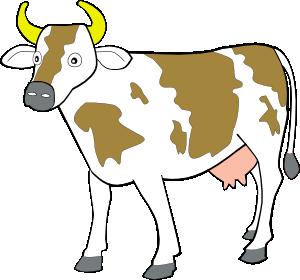 Cow 7 Clip Art at Clker.com.