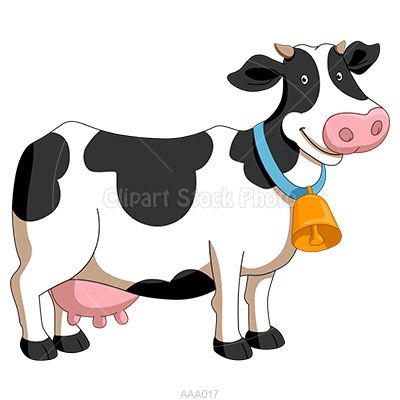Milk Cow Clipart Illustration, Royalty Free Dairy Cattle Stock Image.
