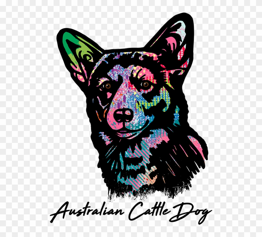 Shirt Colorful Abstract Australian Cattle Dog T Shirt.
