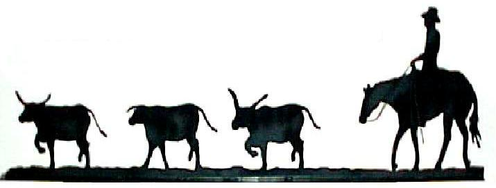 Cattle Drive Clipart.