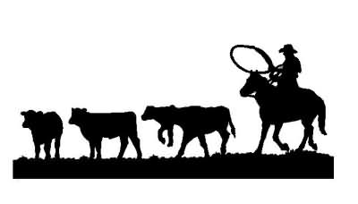 Cattle Drive Silhouette Related Keywords & Suggestions.
