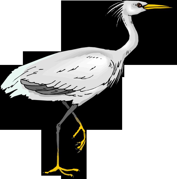 Egret clip art free.