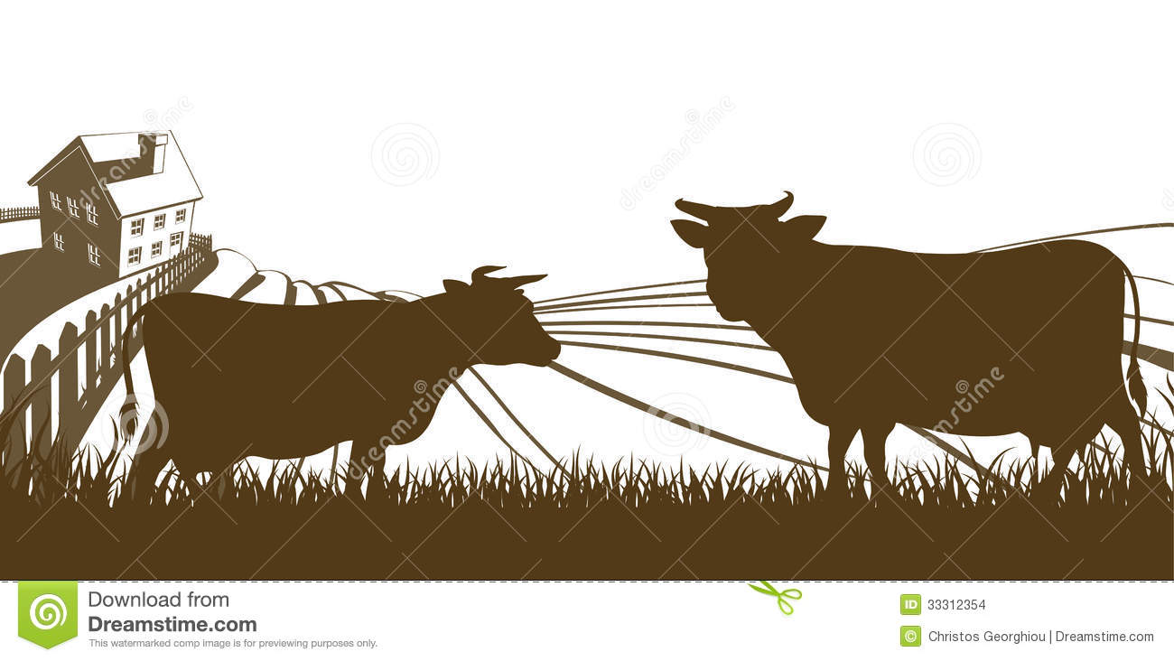 Cattle Farm Clipart.
